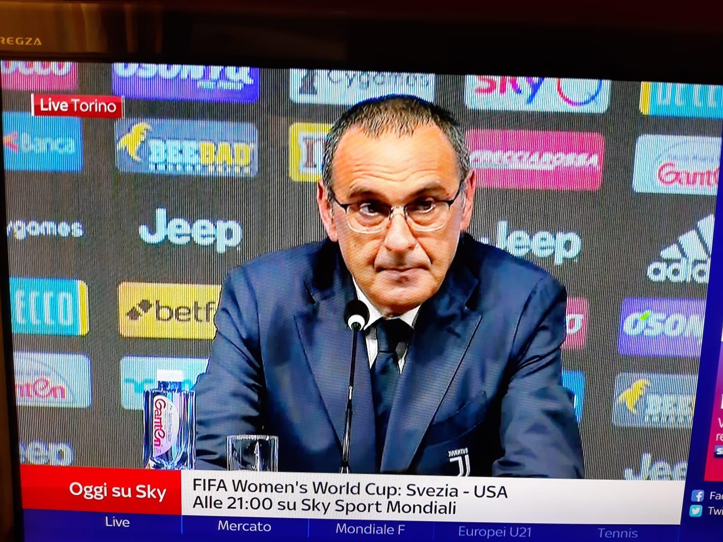 Sarri: «Ronaldo? Ha vinto tutto partendo da sinistra. Pogba mi piace molto ma non conosco la situazione»