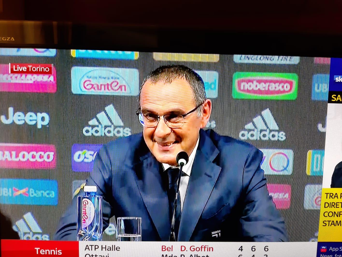 L'abiura del bugiardo Sarri in perfetto stile Juventus