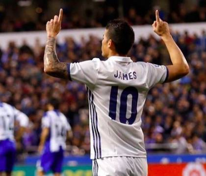 Real Madrid, James titolare col Valladolid