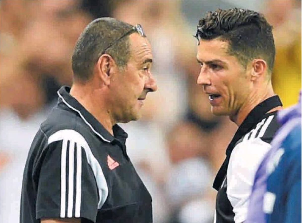 In Spagna tutti scrivono della tensione Ronaldo Sarri per la sostituzione, in Italia (per ore) nessuno