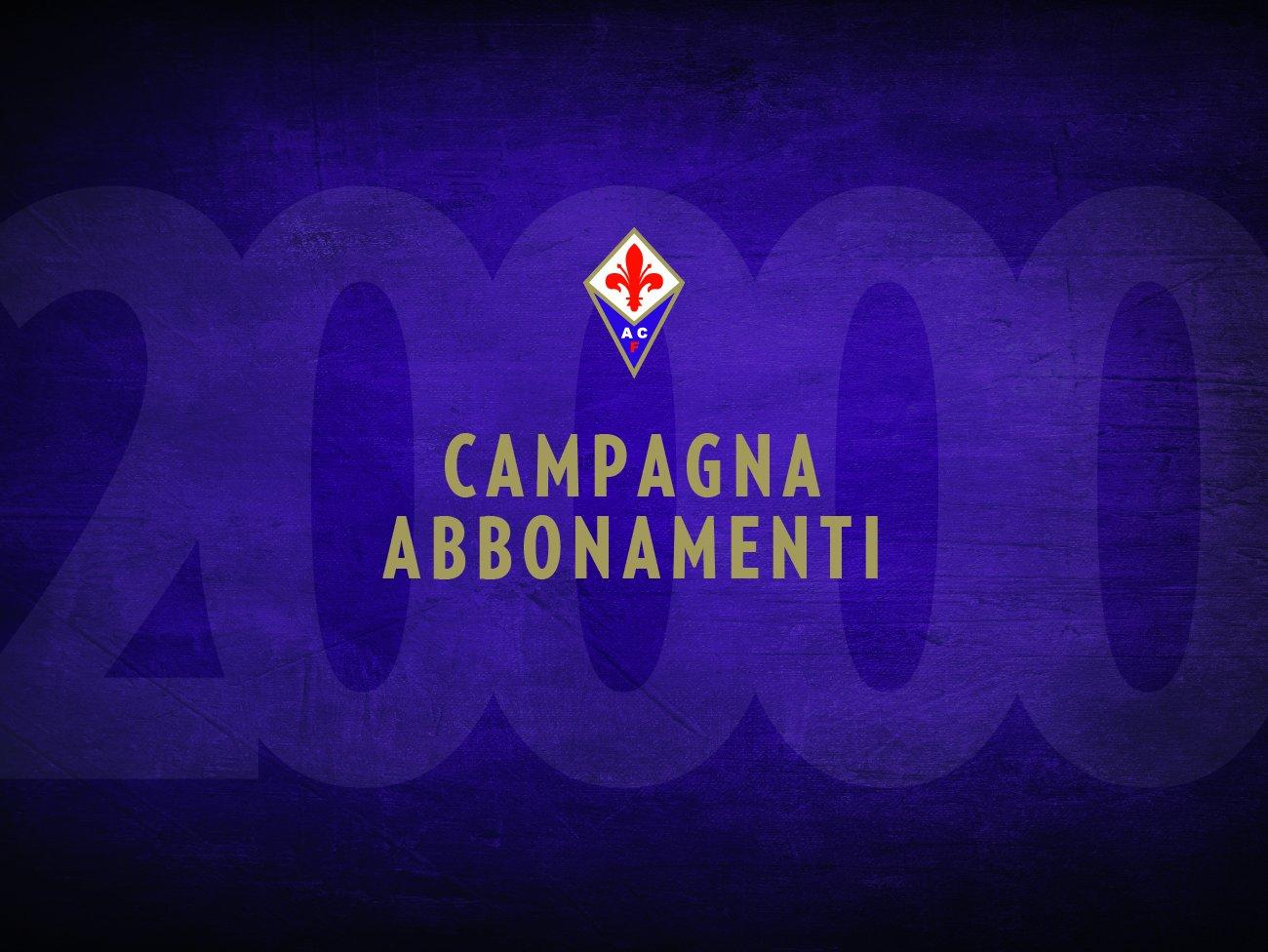 Fiorentina, superati i 20.000 abbonamenti
