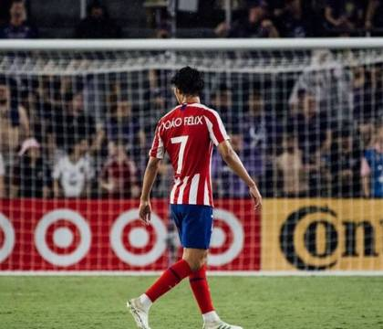 Atletico Madrid, Joao Felix infortunato. Distorsione al lega