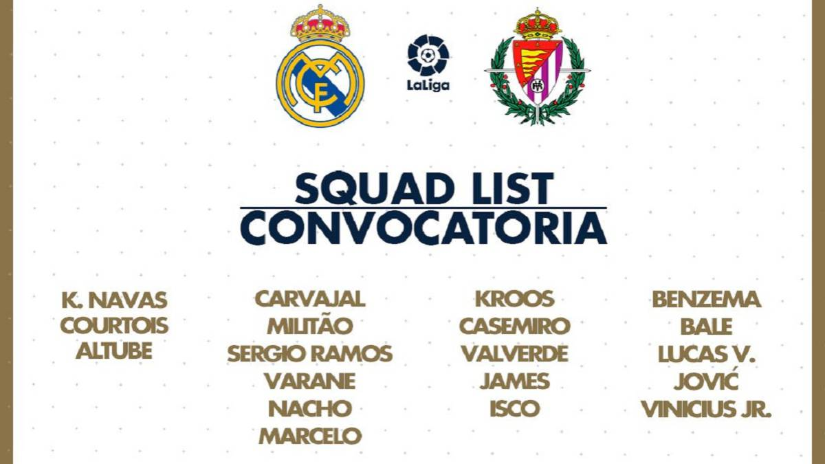 As: assenze eccellenti tra i convocati per Real Madrid-Villadolid