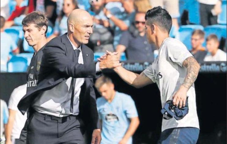 As: Zidane può far esordire James sabato contro il Valladolid