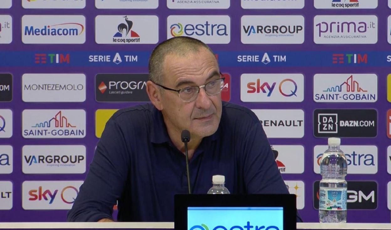 Sarri: «In Italia c'è la fissa per il turnover, in Inghilterra no anche se si giocano più gare»