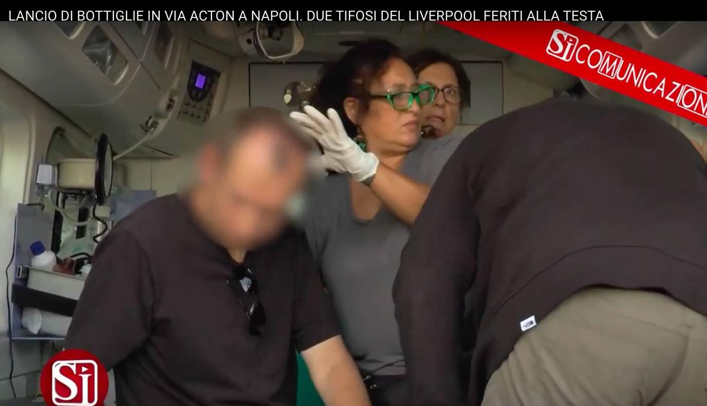 Il dirigente del Liverpool: «Sono in ospedale a Napoli col ragazzo ferito»