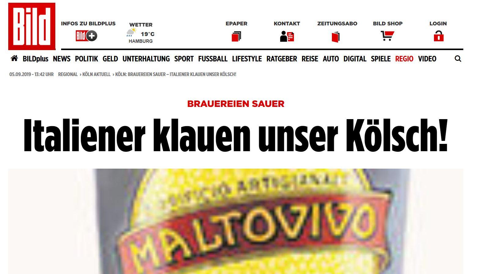 """Dalla Germania: """"A Benevento rubano la nostra Kolsch!"""""""