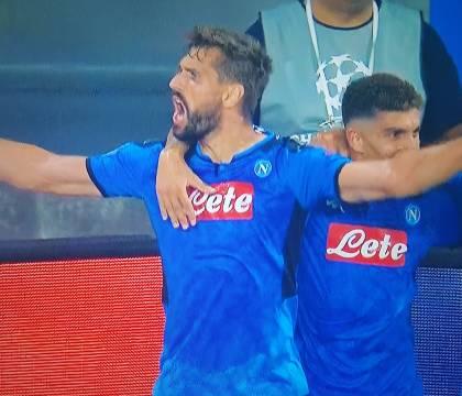 Napoli Liverpool: Llorente entra e segna il gol del raddoppi
