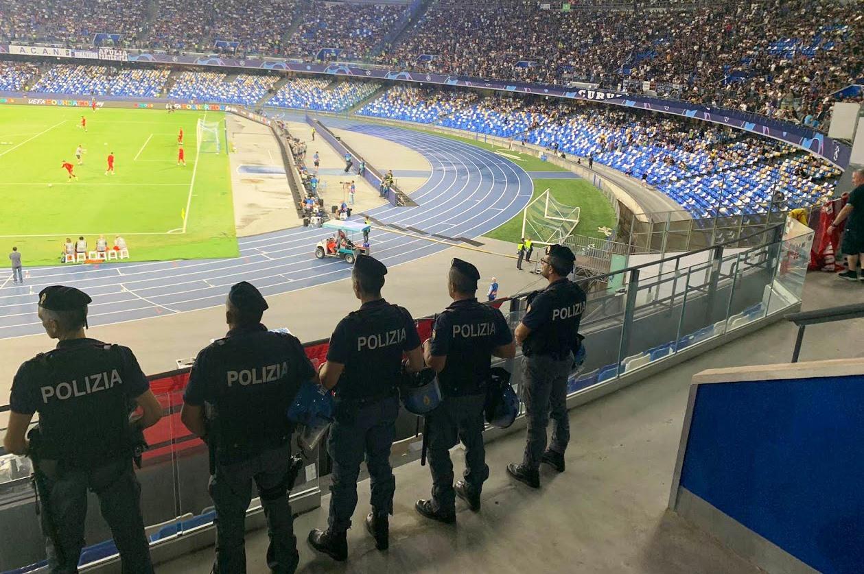 Stadio San Paolo: ancora DASPO e altre sanzioni per i tifosi indisciplinati