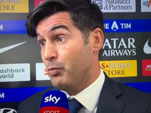 """Fonseca: """"Chi pensa che il campionato della Roma sia finito sbaglia"""""""