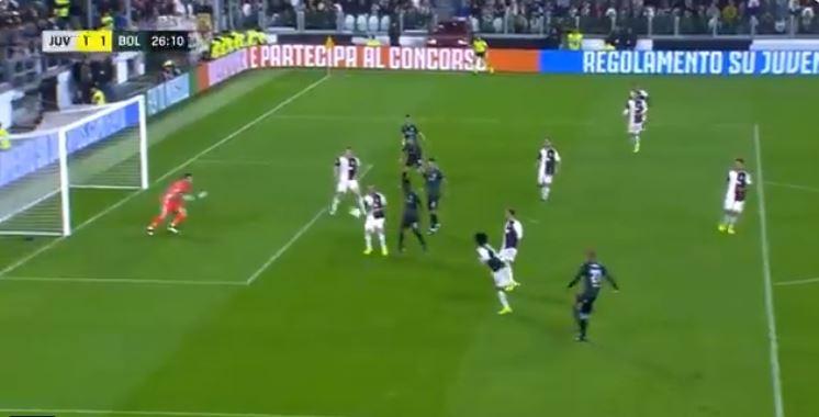Juve-Bologna, Danilo riporta in parità il risultato allo Stadium