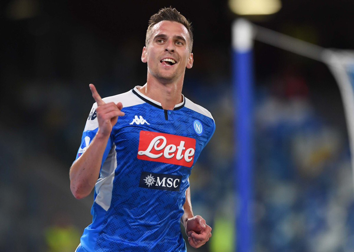 """Milik è il terzo """"italiano"""" a segnare una tripletta in Champions in un solo tempo"""