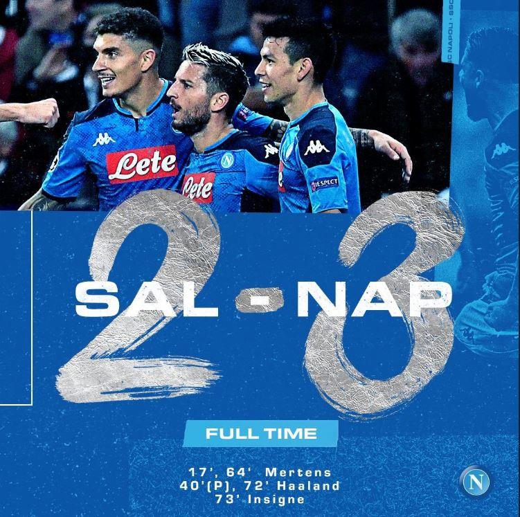 """La Sscn celebra la vittoria: """"Lotta, carattere, tecnica, anima e cuore. Il Napoli mette le ali"""""""