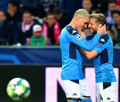 Il Napoli solo in vetta alla classifica del girone di Champi