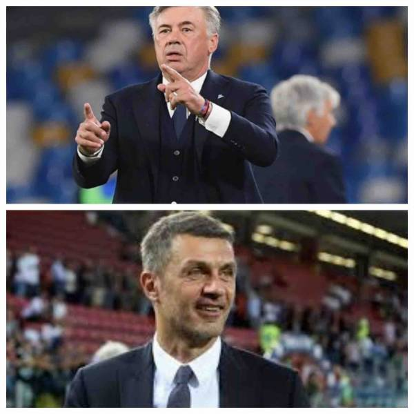 Milan-Napoli, una partita decisiva per Ancelotti e Maldini. I due amici di sempre contrapposti