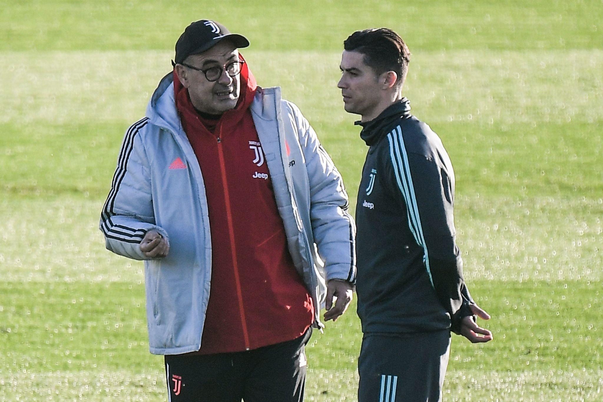 Sarri: «A fine partita ho capito quanto Ronaldo soffriva perché non segnava su punizione»