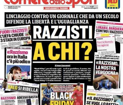 "Il day after del CorSport: ""Linciaggio senza precedenti"". E"