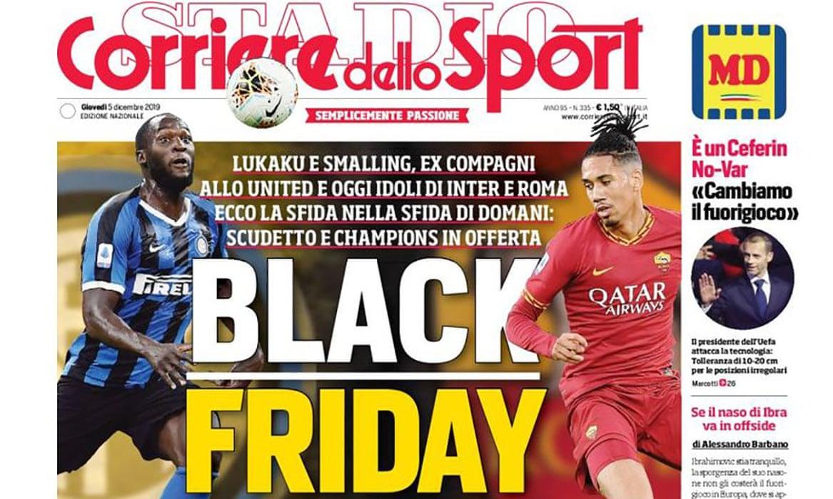 """Razzismo: dalla Roma al Guardian, l'indignazione per il """"black friday"""" del Corriere dello Sport"""