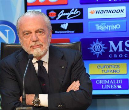 """De Laurentiis promette ai giornalisti: """"Se sosterrete il rit"""