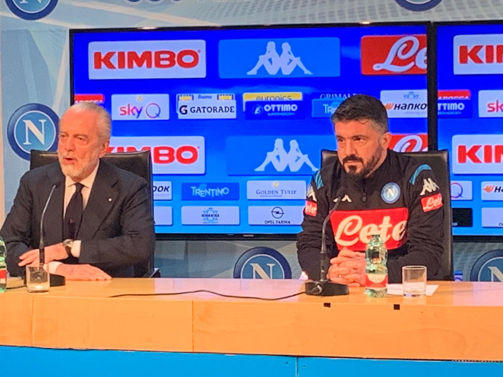 Il Giornale: De Laurentiis pressa Gattuso, subito due vittorie o non sarà Champions