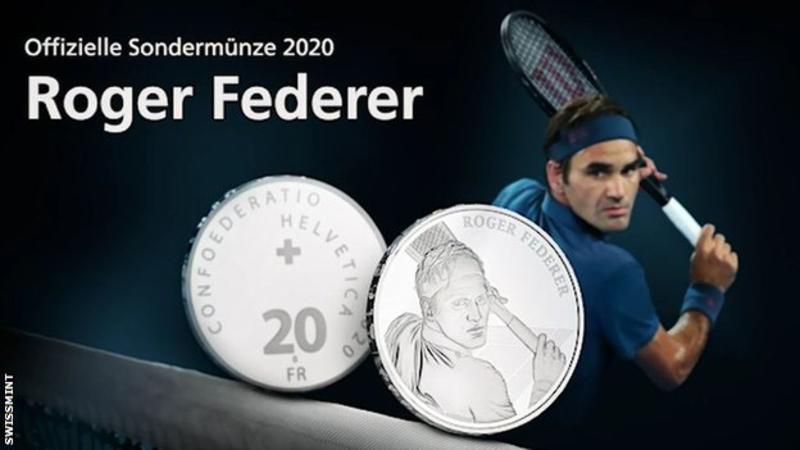 """Federer batte moneta: il """"Roger"""" sarà emesso dalla zecca svizzera nel 2020"""