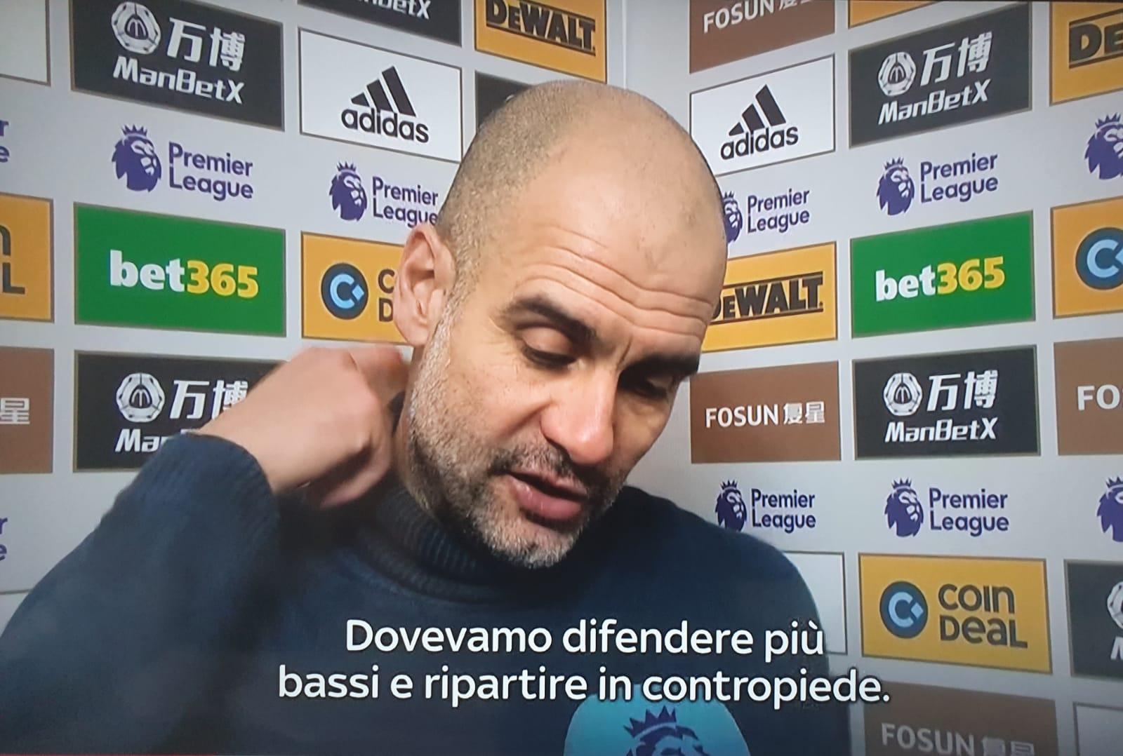 """Guardiola in versione Allegri: """"Dovevamo difendere bassi e ripartire in contropiede"""""""
