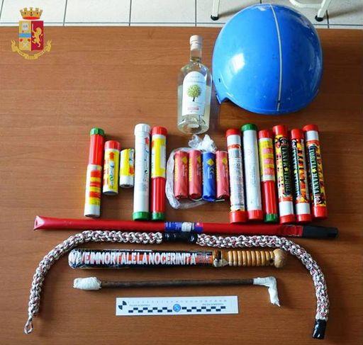 In trasferta a Taranto lanciando bottiglie alle persone, Daspo a 66 tifosi della Nocerina
