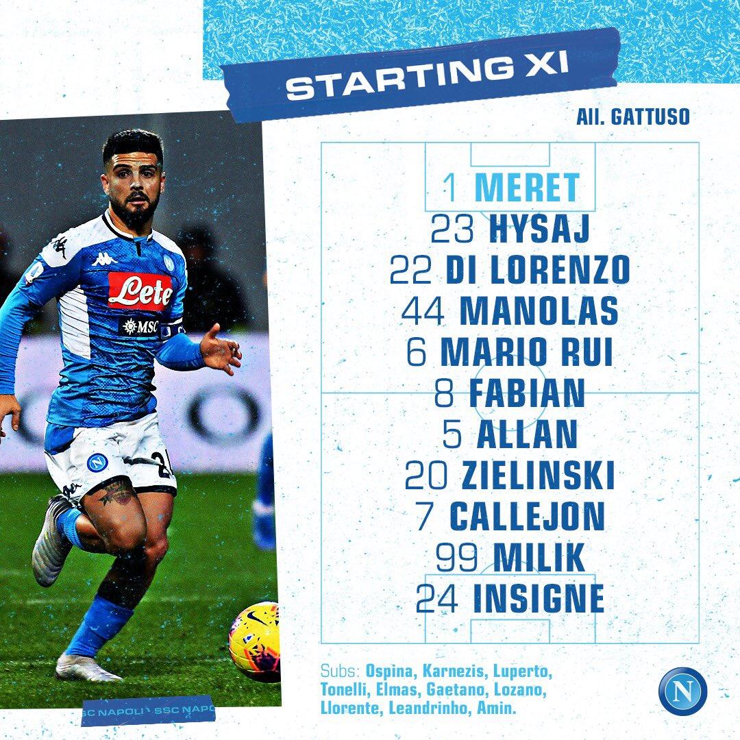 Napoli-Inter, gioca Di Lorenzo centrale