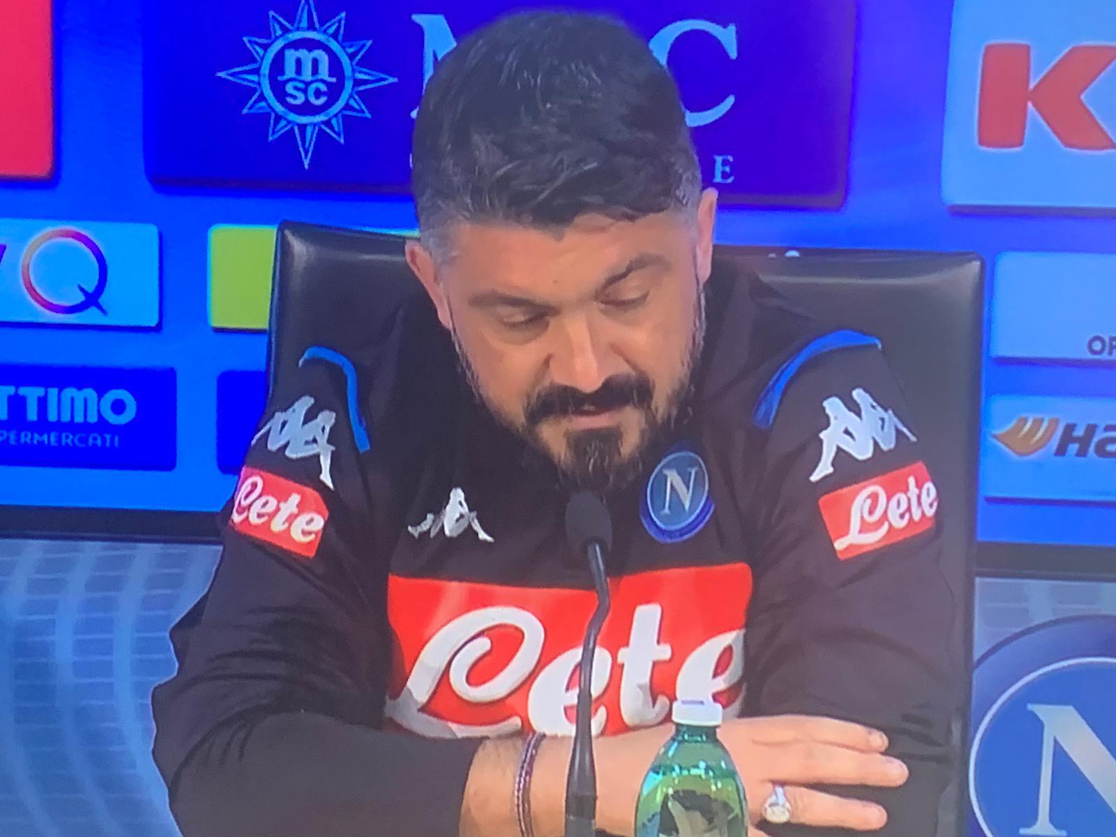 Gattuso: «I portieri? Non sono aziendalista. Mi piacerebbe esserlo ma scelgo per il bene del Napoli»