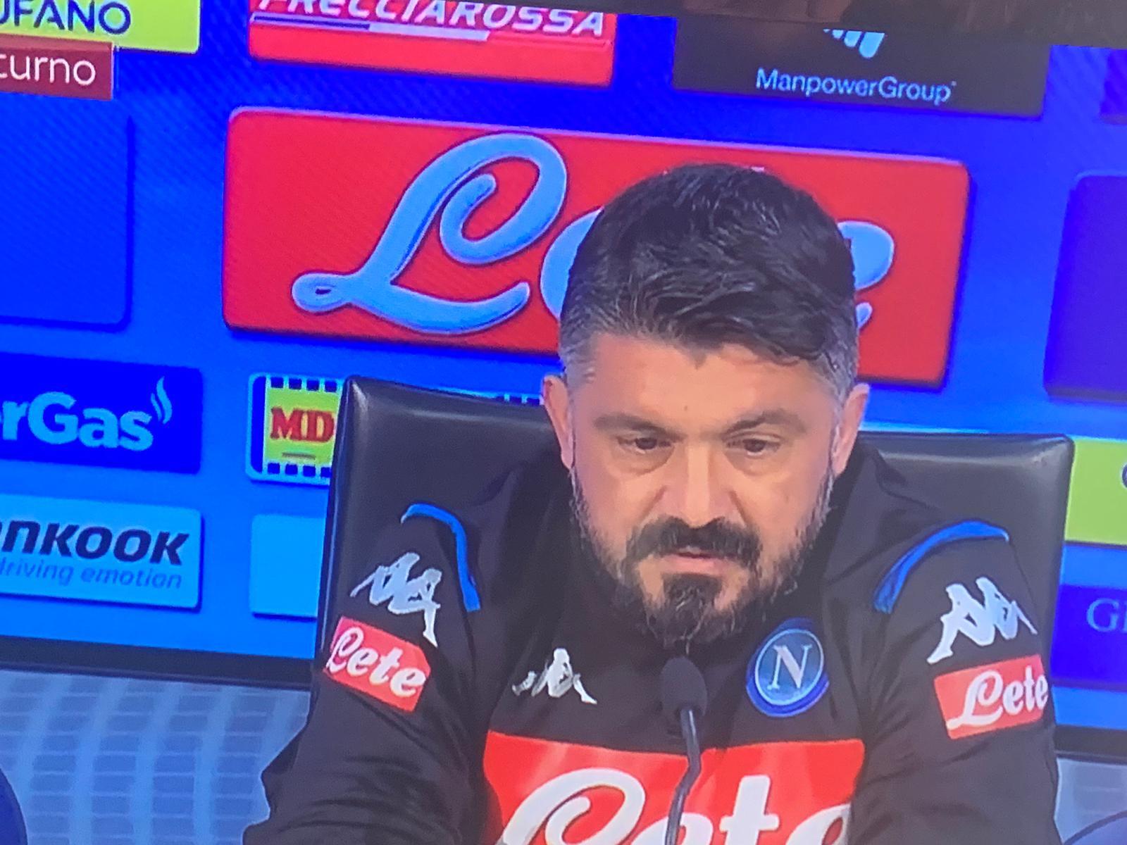 Gattuso: «Dite che a Brescia abbiamo giocato da provinciale. Il Napoli pensi a vincere»