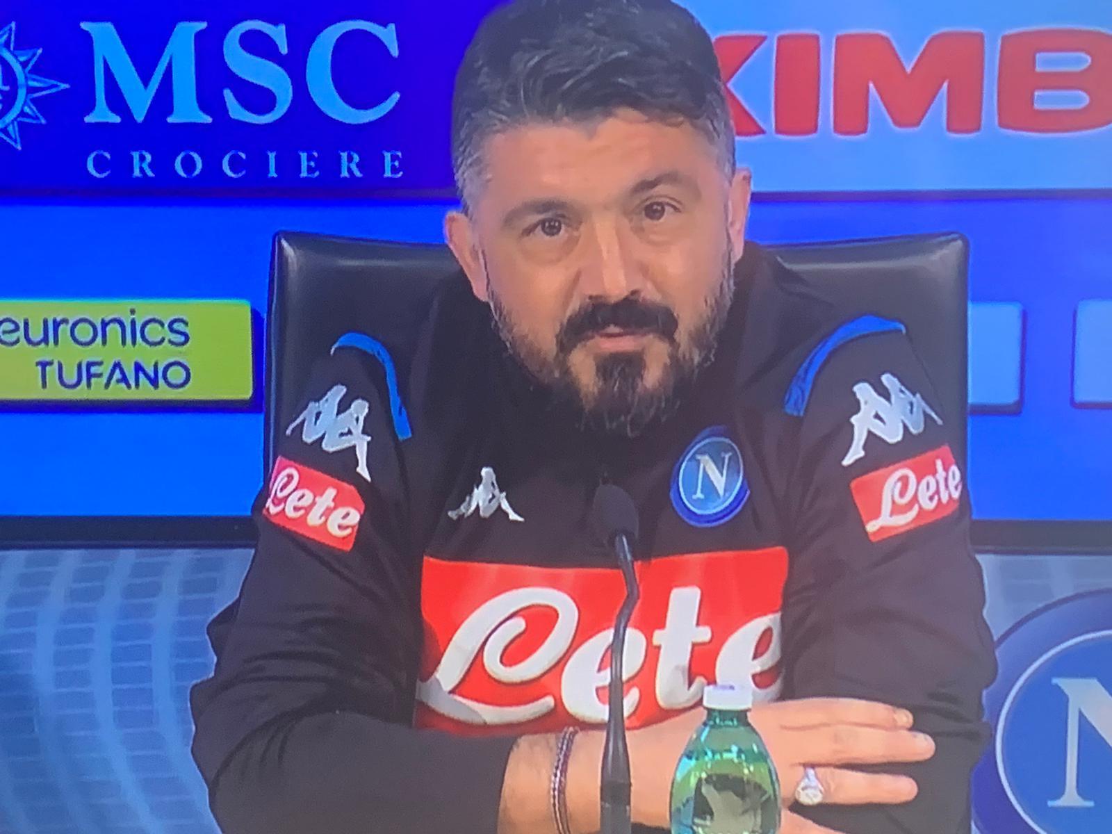 Gattuso: «Mi dà fastidio vedere i miei giocatori che si insultano quando prendono gol»