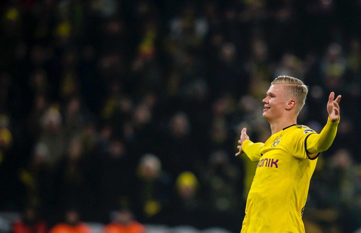 Al Dortmund Haaland ha segnato 5 gol in 60 minuti, uno ogni 12 minuti