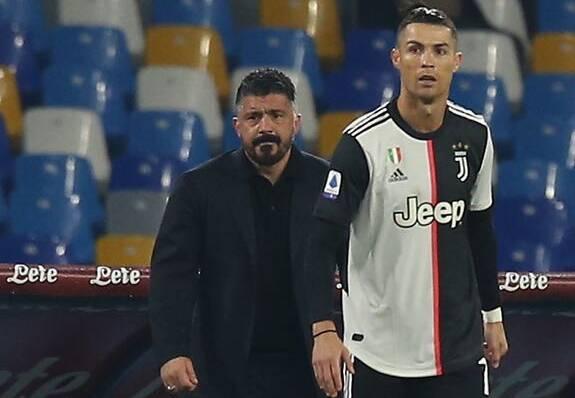 """Tuttosport elogia il cinque di Gattuso a Ronaldo dopo il gol: """"è il bello del calcio"""""""