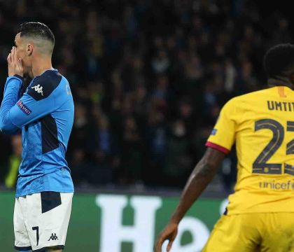 Napoli Barcellona: Il gol divorato da Callejon che lascia un