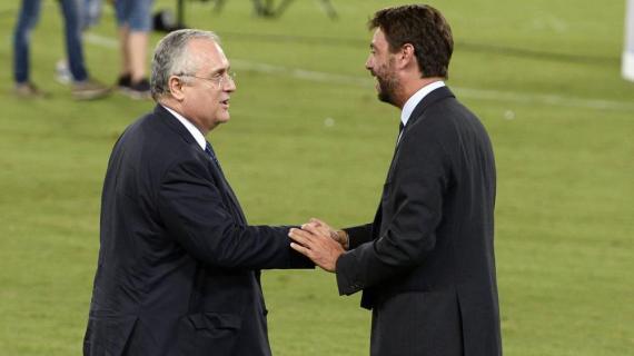 Agnelli: «Per me vota Lotito». Lotito: «Per me vota Agnelli»