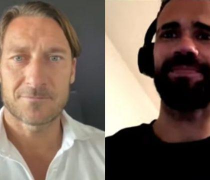 """Messaggio di Totti a Castan che gli risponde: """"A vederlo mi"""