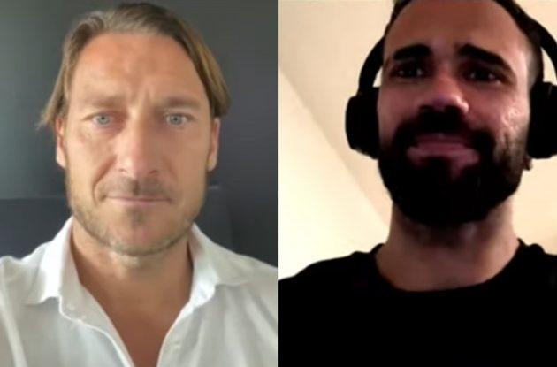 """Messaggio di Totti a Castan che gli risponde: """"A vederlo mi tremavano le gambe"""""""