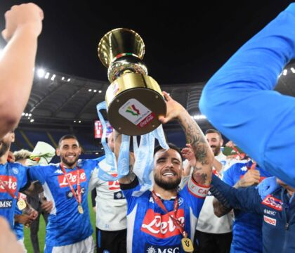 Napoli, la Coppa Italia celebrata in un francobollo