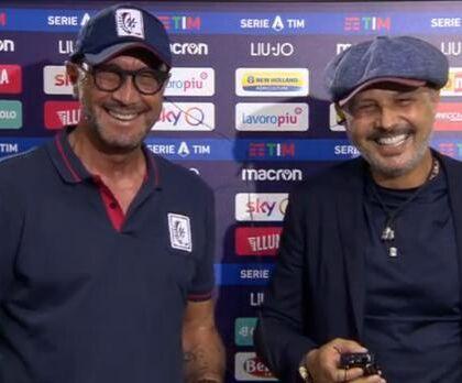 """Mihajlovic scherza con Zenga dopo Bologna Cagliari: """"Sei una"""