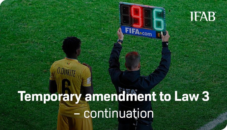 L'Ifab ha deciso: le cinque sostituzioni in vigore anche nella prossima stagione