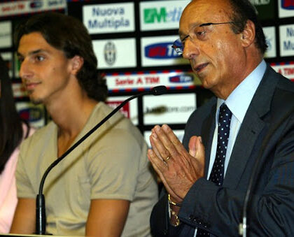 """Ibrahimovic e l'incontro con Moggi alla Juve: «Mi lamentai delle docce, lui disse """"pensa a vincere""""»"""