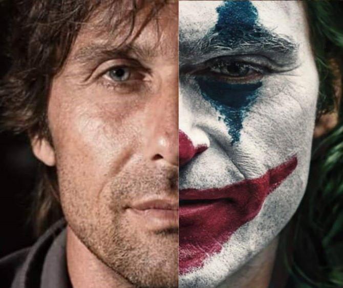 """La smorfia indelebile di Joker Conte: di """"pazzo"""" all'Inter è rimasto solo lui"""