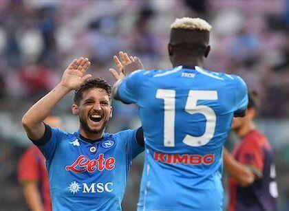 CorSport: Napoli Genoa, Gattuso schiera il 4 2 3 1 ultraoffensivo con Osimhen e Mertens