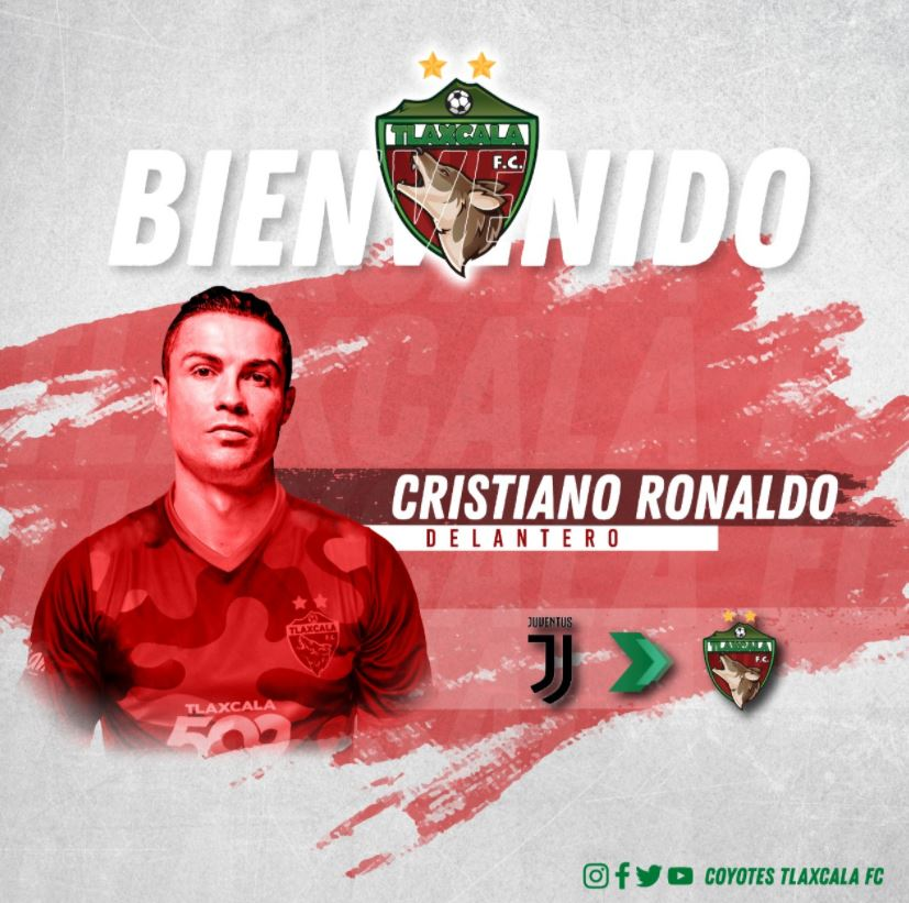"""Il Tlaxcala Fùtbol Club chiama Ronaldo: """"Guarda come saresti bello con la nostra maglia"""""""