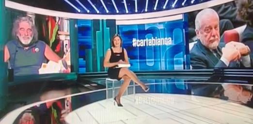 Napoli furibondo con la Rai e Cartabianca. «De Laurentiis in Lega con la febbre alta, è un bugiardo» (VIDEO)
