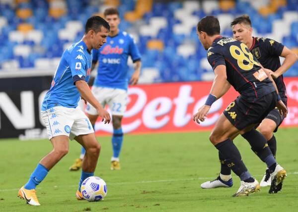 6-0 al Genoa. ll Napoli rilancia Lozano, perde Insigne e trova equilibrio col familiare 4-4-2