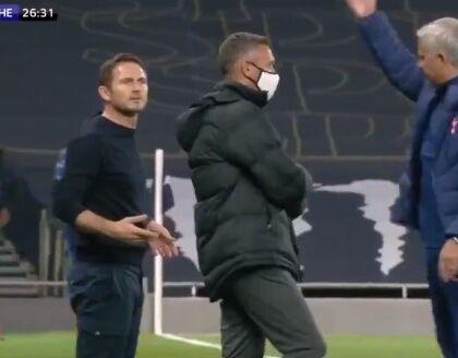 """""""Quando perdi 3 0 non parli così tanto eh?"""", il battibecco tra Mourinho e il figliol prodigo Lampard (VIDEO)"""