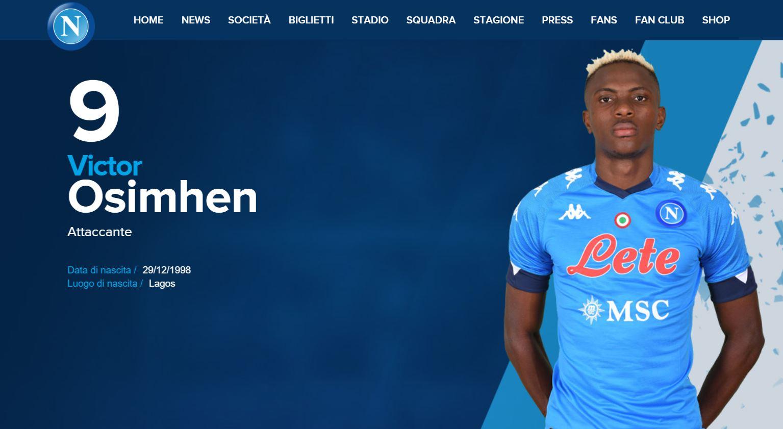 Napoli, è ufficiale: Osimhen ha scelto la maglia numero 9