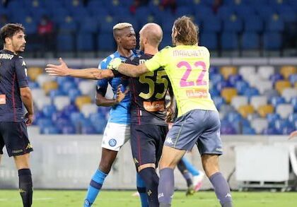 Napoli Genoa, si teme il focolaio: fermati anche gli arbitri