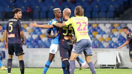 Napoli-Genoa, si teme il focolaio: fermati anche gli arbitri